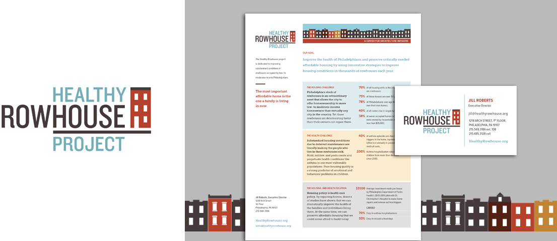Healthy Rowhouse project logo and brand materials