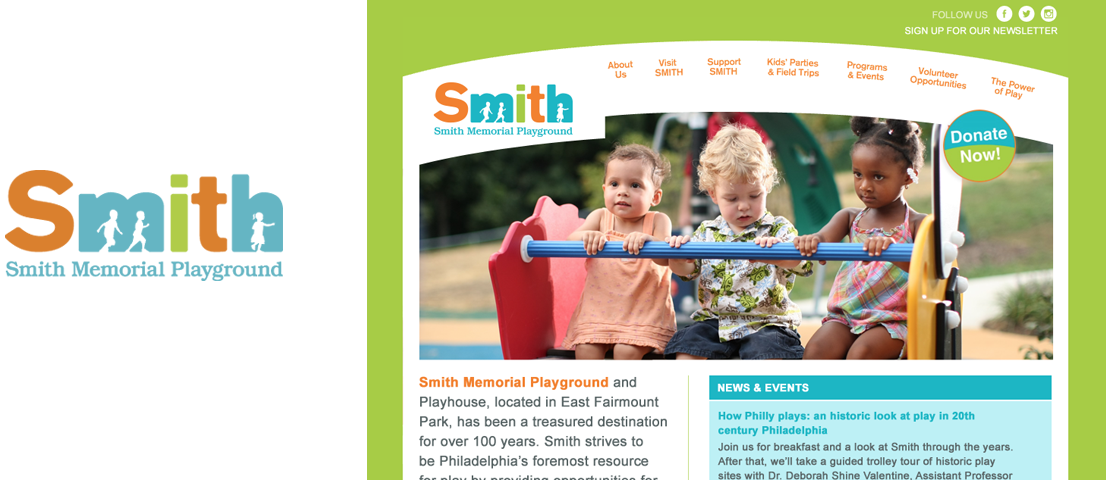 Smith Playground Logo and Website