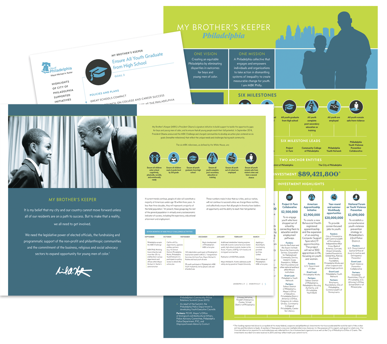 My Brother's Keeper publication and event collateral design