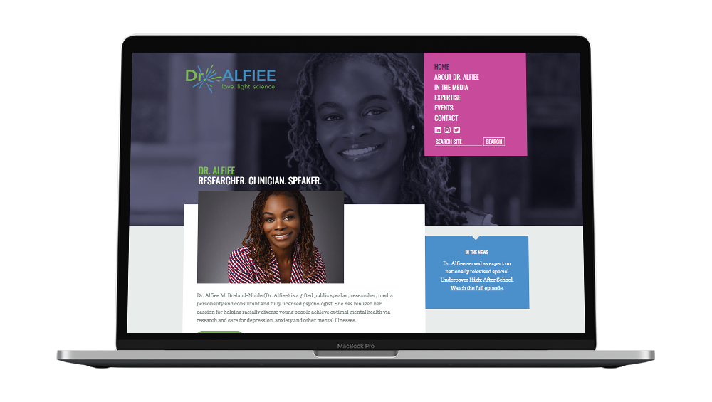 Dr. Alfiee Homepage Design