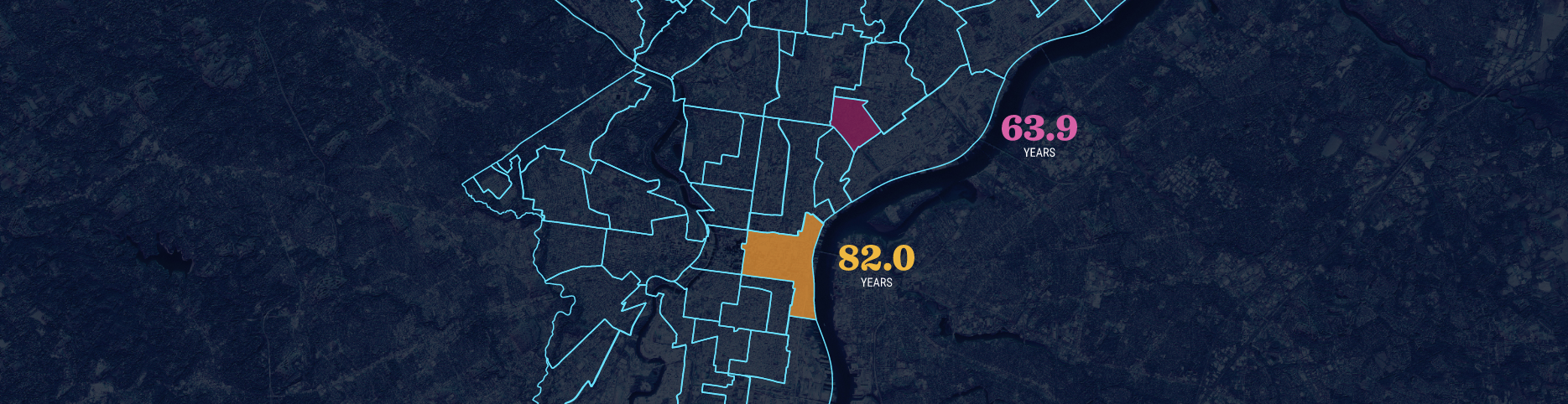 Philly Health Rankings Homepage Map