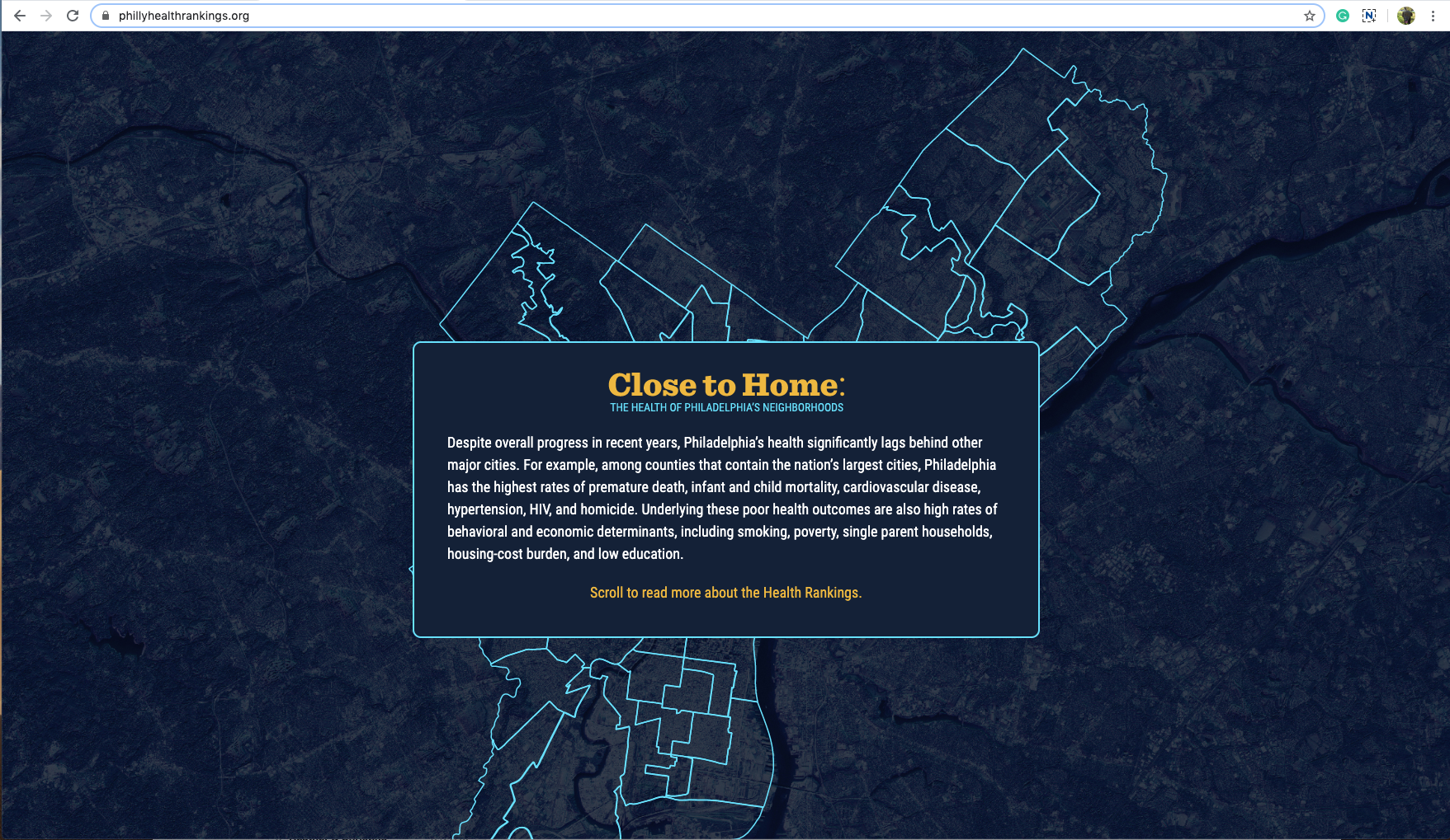 Homepage for Close to Home