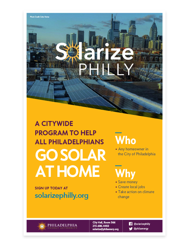 Solarize Philly poster design