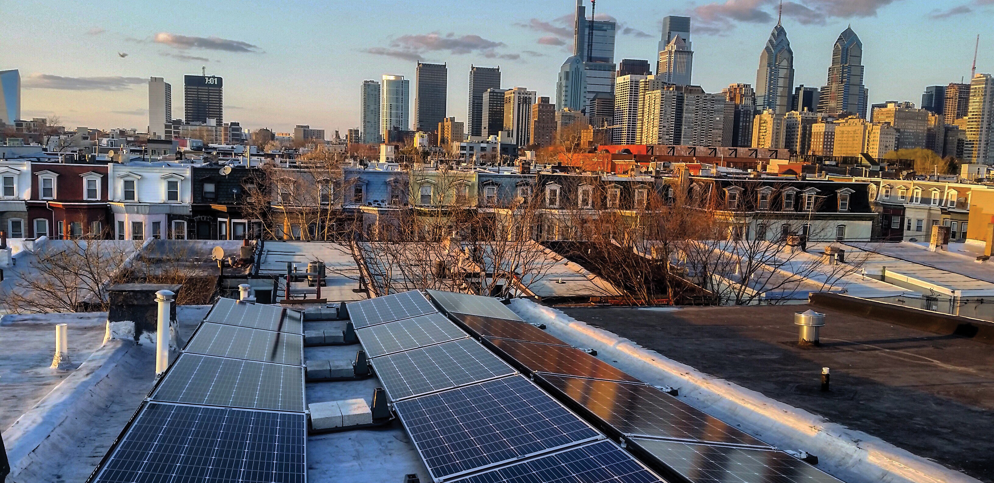 Solarize Philly Skyline Photo